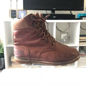 The north face combat leather boots water proof